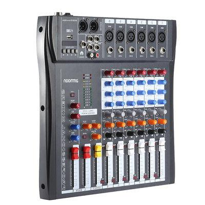 ammoon Audio Mixer Board Mixing Console with Adapter Z4P6