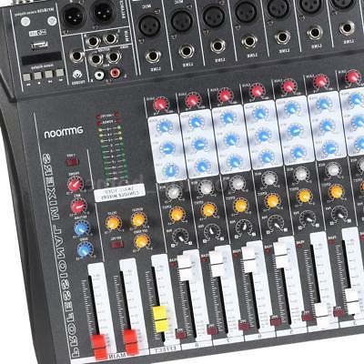 8 Channel Digtal Mic Line Mixer Console Power Recording