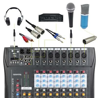 8 Line Audio Console 48V Recording