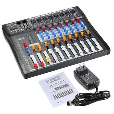 8 Channel Line Audio Mixer Console 48V Recording