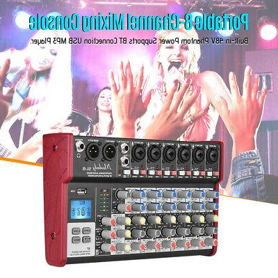 audio mixer mixing console 8channel karaoke 48v