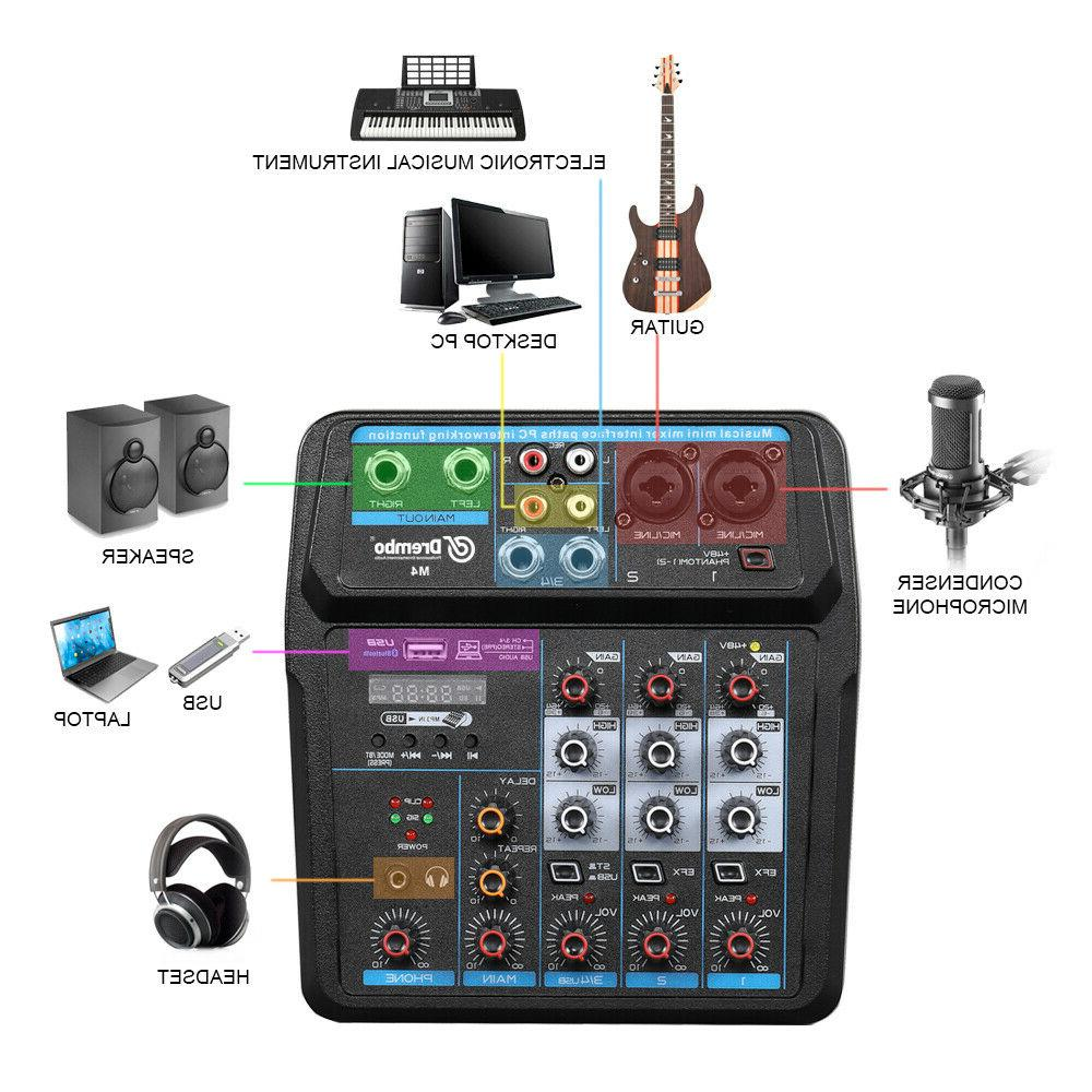 Mixer Audio with Sound Card,