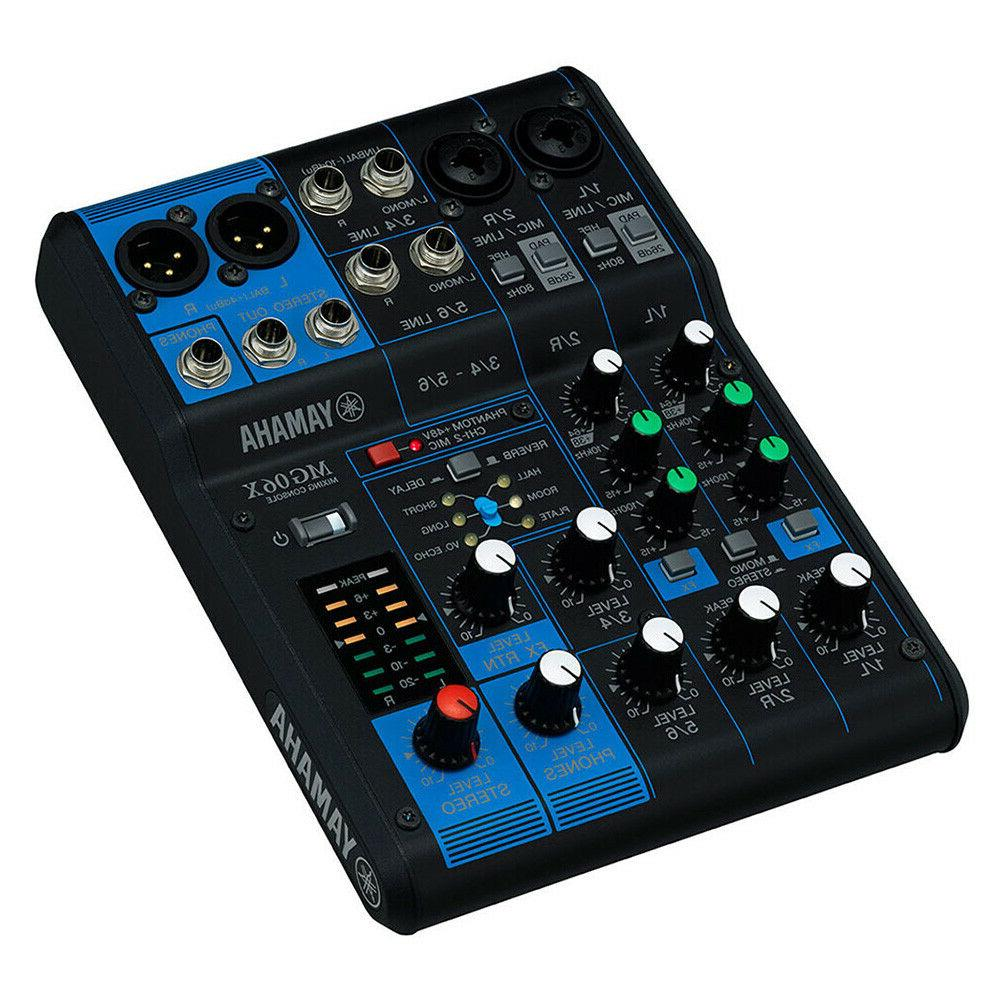 Yamaha MG06X 6-Channel Compact Audio In Effects