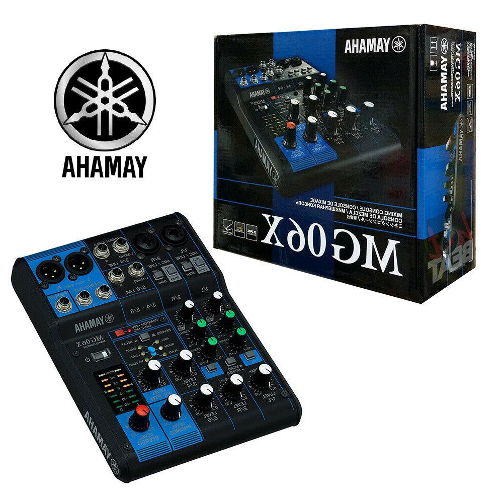 mg06x 6 channel compact audio mixer