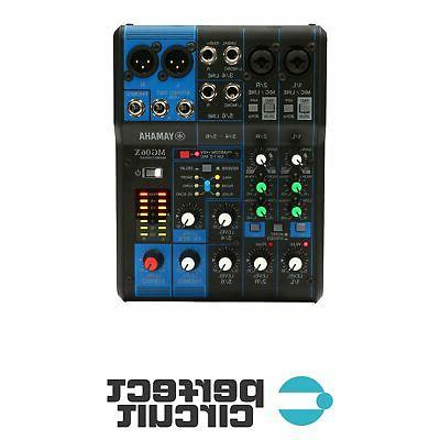 mg06x 6 input stereo mixer effects pro