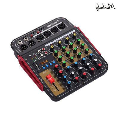4Channel Audio Bluetooth DJ Sound Mixing Console Amplifier