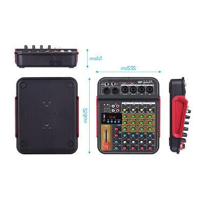 4Channel Mixer Bluetooth Mixing
