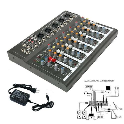 Mini Professional 7 Channel Live Studio Audio Mixer USB Mixi