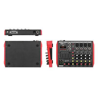 6 Channel Professional BT USB Power Mixing