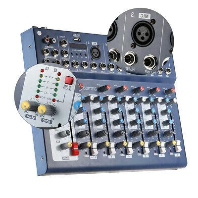 ammoon 7-Channel Mic Audio Sound Mixer Mixing Console