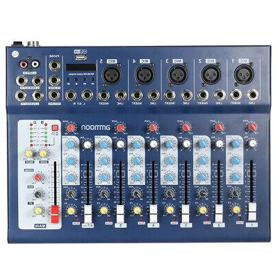 ammoon 7-Channel Mic Line Audio Sound Mixer Console I4B5