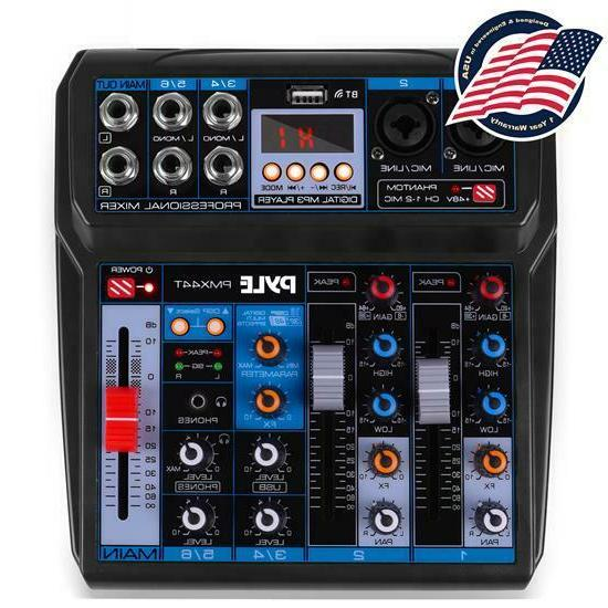 pmx44t professional 6 channel compact audio mixer