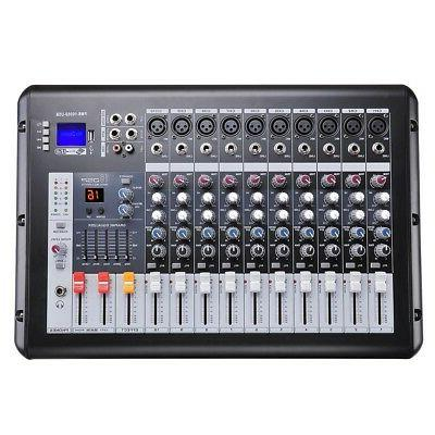 pro powered audio mixer 10 channels studio