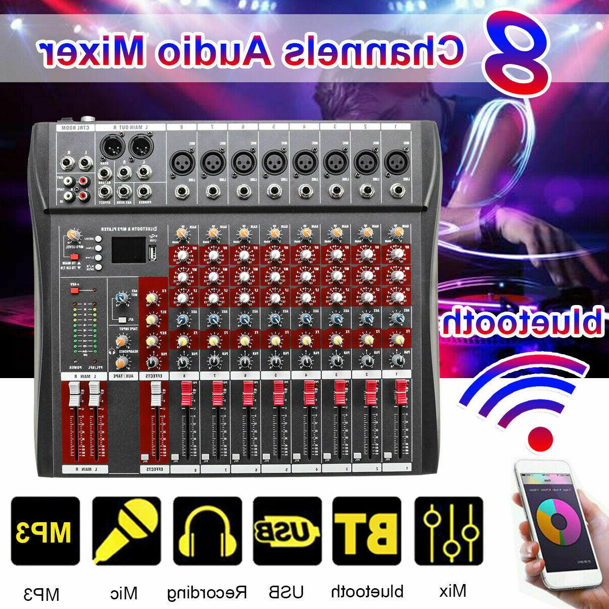 48V 8/12 Channel Phantom bluetooth Live Studio Professional
