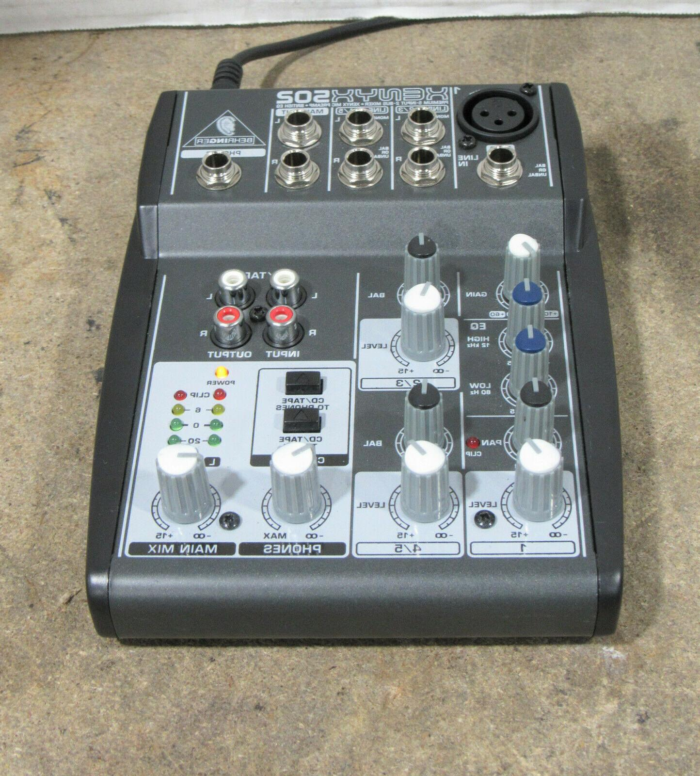 xenyx 502 5 channel professional dj analog