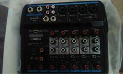 M-6 Channel Mini Audio Mixer with Sound Card, USB, Podcast M
