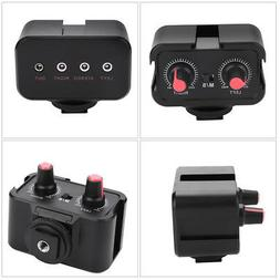 MICROPHONE AUDIO MIXER ADAPTER PHOTOGRAPHY SET FOR CANON NIK