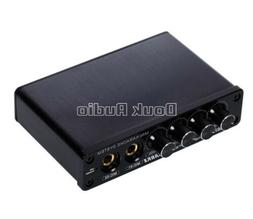 Mini Audio Mixer Stereo Preamp with Microphone Input for Hom