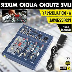 Mini Professional 4 Channel Live Studio Audio Mixer USB Mixi