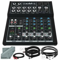 Mackie Mix Series Mix8 8-Channel Compact Mixer and Basic Bun