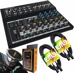 Mackie Mix12FX 12-Channel Compact Mixer with Effects + 2x XL