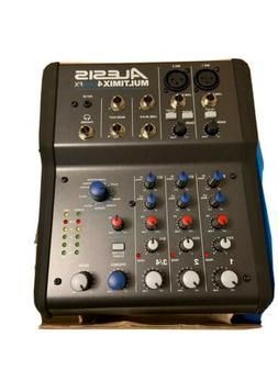 Alesis MultiMix 4 USB FX 4-Channel Mixer with Effects & USB
