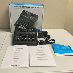 Alesis MULTIMIX4USBFX Black 4 Channel Mixer With Effects And