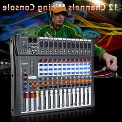 New 120S-USB 12 Channels Mic Line Audio Mixer Mixing Console