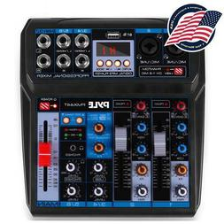 Pyle PMX44T Professional 6-Channel Compact Audio Mixer with