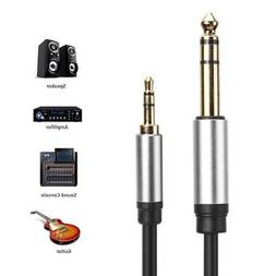 Portable 3.5mm to 6.35mm Adapter Audio Cable for Mixer Ampli