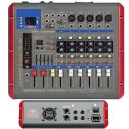 Pro 7 Channel 1600W Power Amplifier Audio Mixer Mixing Conso