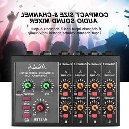Professional 8-Channel Stereo Audio Sound Mixer&Frequency Cu