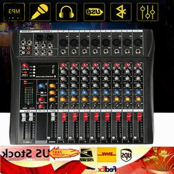 Professional Audio Mixer Bluetooth 8 Channel studio audio mi