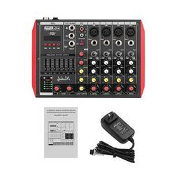 professional 6ch audio mixer sound mixing console
