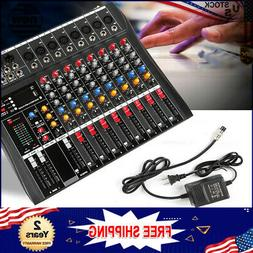 Red 8 Channel Mixer Stage Bluetooth Live Studio Audio Consol