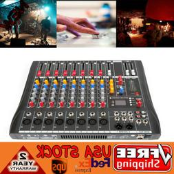 USB Pro 8 Channel bluetooth Live Studio Audio Mixer power mi