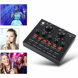 V8 Sound Mixer Board for Live Streaming, Voice Changer Sound
