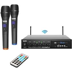Pyle Wireless Microphone And Bluetooth Receiver System Audio