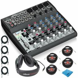 Behringer XENYX 1202 12 Ch Audio Mixer w/Closed-Back Headpho