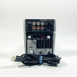 Behringer XENYX 302USB Compact Mixer Audio Interface With US