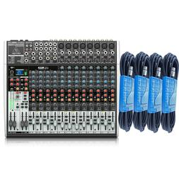 Behringer XENYX X2222USB - 22-Input USB Audio Mixer with 4 F